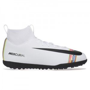 Nike Mercurial Level Up SuperflyX 6 Club Astroturf Trainers – White – Kids All items