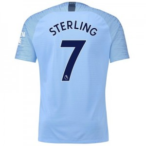 Manchester City Home Vapor Match Shirt 2018-19 with Sterling 7 printing All items