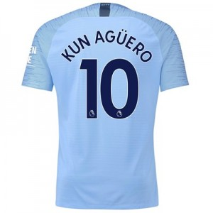 Manchester City Home Vapor Match Shirt 2018-19 with Kun Agüero  10 printing All items