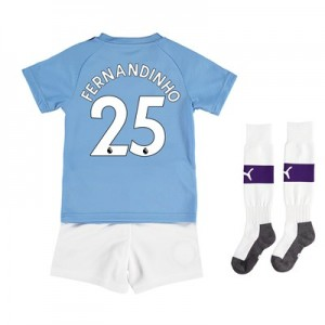 Manchester City Home Mini Kit 2019-20 with Fernandinho 25 printing All items