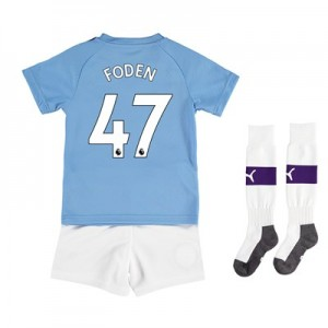 Manchester City Home Mini Kit 2019-20 with Foden 47 printing All items