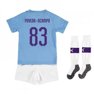 Manchester City Cup Home Mini Kit 2019-20 with Poveda-Ocampo 83 printing All items