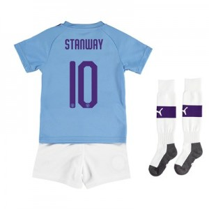 Manchester City Cup Home Mini Kit 2019-20 with Stanway 10 printing All items