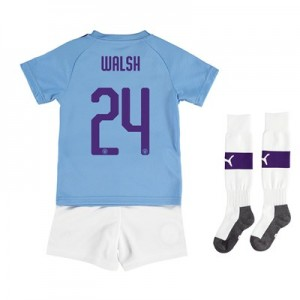 Manchester City Cup Home Mini Kit 2019-20 with Walsh 24 printing All items
