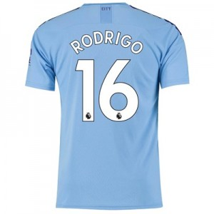 Manchester City Home Shirt 2019-20 with Rodrigo 16 printing All items