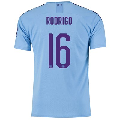 Manchester City Cup Home Shirt 2019-20 with Rodrigo 16 printing All items