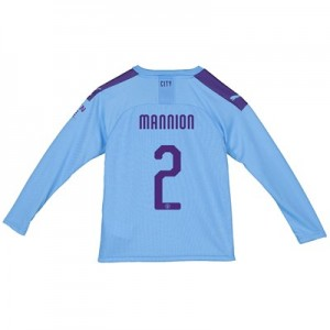 Manchester City Cup Home Shirt 2019-20 – Long Sleeve – Kids with Mannion 2 printing All items