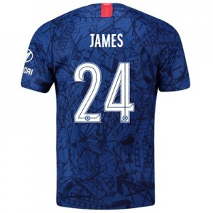 Chelsea Home Cup Stadium Shirt 2019-20 with James 24 printing