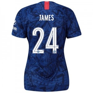 Chelsea Home Cup Stadium Shirt 2019-20 - Womens with James 24 printing