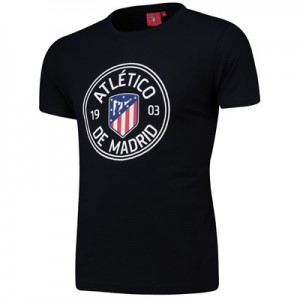 Atlético de Madrid Printed T-Shirt - Navy - Mens