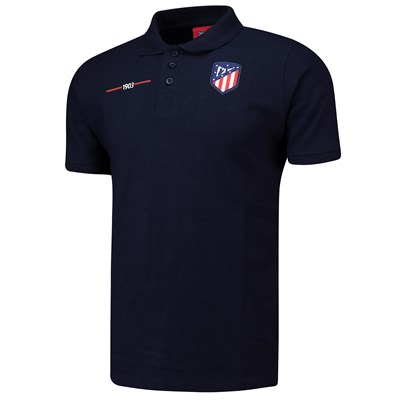 Atlético de Madrid Crest Polo Shirt - Navy - Mens