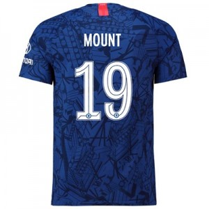 Chelsea Home Cup Vapor Match Shirt 2019-20 with Mount 19 printing