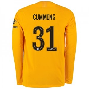 Chelsea Home Cup Stadium Goalkeeper Shirt 2019-20 - Long Sleeve - Kids with Cumming 31 printing