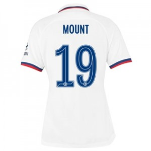 Chelsea Away Cup Stadium Shirt 2019-20 - Womens with Mount 19 printing