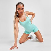 Gym King Ribbed Cycle Suit - Blue - Womens