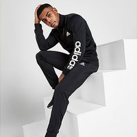 adidas Badge of Sport Poly Linear Tracksuit - Black - Mens